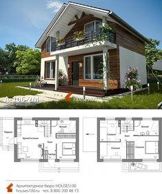 House Arch Design, 2 Storey House Design, Home Building Design, Modern House Design, Little House Plans, Small House Plans, Home Modern, Modern House Plans, Architectural Design House Plans