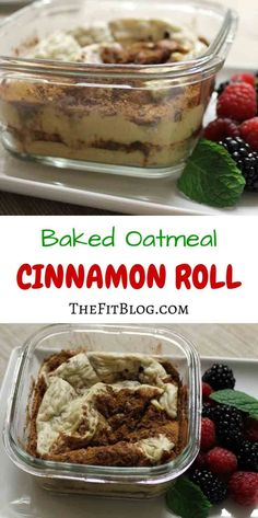 This recipe is a great way to prepare an oatmeal breakfast for those days where you are on the go or when you know you won't have time to cook in the morning. Plus, it taste just like cinnamon rolls :-)