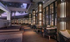 Project for Sushi bar terrace at hotel Marinela, Sofia