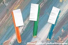 Popsicle Stick Toothbrushes- a simple kid craft idea perfect for a dental classroom activity, make & take for a dental office or a just because craft! Popsicle Stick Crafts For Kids, Popsicle Sticks, Health Activities, Preschool Activities, Space Activities, Dentist Art, Body Preschool, Dental Health Month, Community Helpers