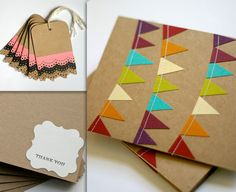 Love the handmade card with the bunting