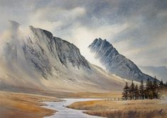 Original Watercolour Paintings and Signed prints of Snowdonia, North Wales, The Lake District, and Scotland by artist Chris Hull.