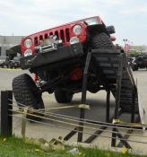 Jeep JK showing its articulation