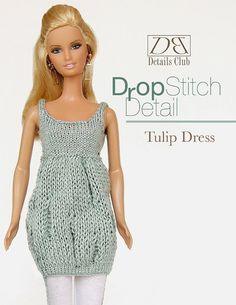 Knitting pattern for 11 1/2 inch fashion doll by DBDollPatterns