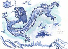 Chinesischer Drachen von Kunstwelt auf Etsy, €180.00