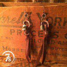 Leather Tie Earrings