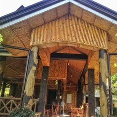 Bamboo restaurant Nipa house Bahay kubo Bamboo Restaurant, Bahay Kubo, Bamboo House, Gazebo, Concrete, Outdoor Structures, Cabin, House Styles, Outdoor Decor
