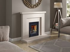 Fireline FPi5 inset stove in Limestone beckford.