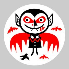 Bat pin by Little Friends of Printmaking