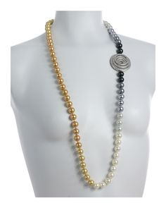 cb45577de433 Odette Anthology  - White Pearl Necklace with CZ Swan Pendant in 2019