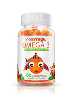 Coromega Omega 3 Gummy Fruits for Kids, 60 Ct, Orange Fish Oil For Kids, Fish Oil Benefits, Vitamins For Kids, Children's Vitamins, Fruits For Kids, Healthy Brain, Strawberry Banana, Delicious Fruit, Omega 3