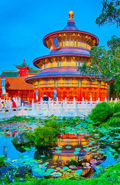 China in Florida - HDR of the China Pavillion at Epcot Center Disney Vacations, Disney Trips, Disney Parks, Walt Disney World, Chinese Background, Blizzard Beach, Old Shows, Disney Springs, Disney Love