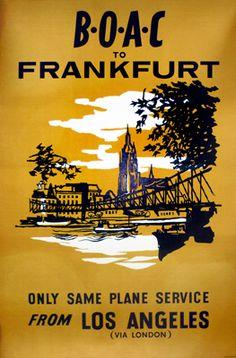 BOAC - Frankfurt, from LA via London, (1957)