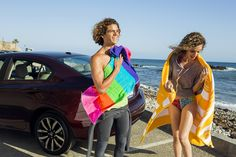The Honda Civic can help you get a closer view of the ocean.