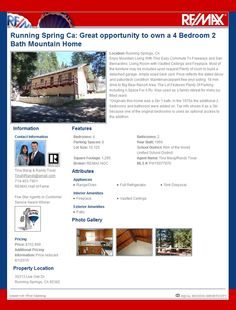 Running Springs Caifornia Mountian Home for Sale