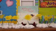 Beautiful story about friendship.  We covered Styrofoam with cotton balls and added a yellow flower.