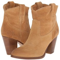 Frye Ilana Short Boot Women's Pull-on Boots ($298) ❤ liked on Polyvore featuring shoes, boots, ankle booties, ankle boots, high heel ankle boots, leather ankle boots, frye booties and long boots