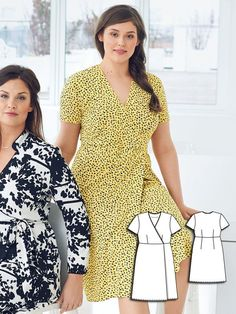 Short Sleeve Wrap Dress (Plus Size) 07/2016 #126 http://www.burdastyle.com/pattern_store/patterns/short-sleeve-wrap-dress-plus-size-072016?utm_source=burdastyle.com&utm_medium=referral&utm_campaign=bs-tta-bl-160616-MotherDaughterCollection126