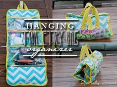 DIY Hanging Toiletry Bag! Wonder if my friend Simply Elouise could make one of these?!