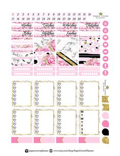 SMILE Printable Planner StickersPlanner Stickers for use with