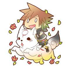 Okami and Kingdom Hearts!