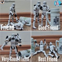 Grau de amizade.