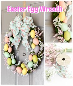 DIY Easter Egg Wreath – create a beautiful spring wreath with moss, Easter eggs, and flowers. DIY Easter Egg Wreath The weather in California has [. Bunny Crafts, Easter Crafts For Kids, Easter Ideas, Easter Stuff, Easter Recipes, Easter Garland, Easter Wreaths Diy, Thanksgiving Wreaths, Diy Easter Decorations