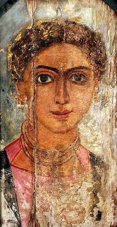 Fayum Portrait of a Girl. later 2nd c. CE. Fayium Oasis
