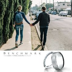 """Romance is the glamour which turns the dust of everyday life into a golden haze."" ­– Elinor Glyn #benchmarkrings #love #gold #weddingring #picoftheday"