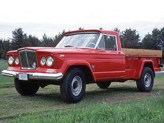 1964 Jeep Gladiator Thriftside Pickup. 6-230 SOHC engine. Original condition. Jeep Gladiator, Dodge Trucks, Jeep Truck, Jeep Pickup, Pickup Trucks, Red Jeep, Assurance Auto, Military Jeep, Jeep Grand