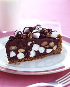 """See the """"Rocky Road Tart"""" in our Chocolate Pies and Tarts gallery Chocolate Ganache Tart, Chocolate Pies, Chocolate Recipes, Chocolate Pudding, Tart Recipes, Sweet Recipes, Dessert Recipes, Just Desserts, Delicious Desserts"""
