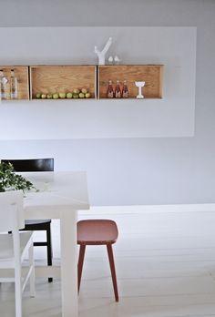 peppar o vanilj * shelves Modern Kitchen Design, Interior Design Kitchen, Kitchen Decor, Kitchen Ideas, Interior Styling, Interior Decorating, Creative Home, Home And Living, Living Room