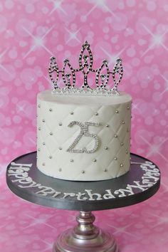www.nyocakes.com www.facebook.com.nyocakes  serving the cedar park, tx austin, tx and surrounding areas. Silver diamond cut princess cake - Cake by Not Your Ordinary Cakes