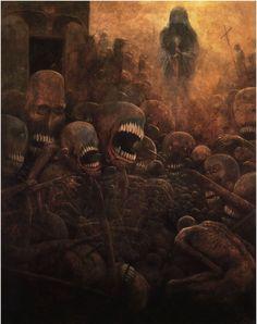 Zdzisław Beksiński Art = Nightmare fuel