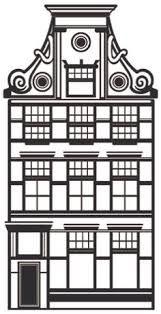 Afbeeldingsresultaat voor amsterdamse huisjes tekenen