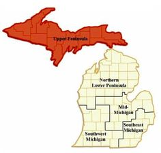 THE U.P.!!  I'm a Yooper!! I hate when people call any part of the lower peninsula 'northern Michigan'..... fuck you, its not northern... the U.P has Northern Michigan University, and is the furthest north... Therefore, its northern Michigan... take your trollness else where.. thanks!