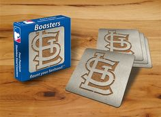 St. Louis Cardinals Boasters Stainless Steel Coasters by Sportula