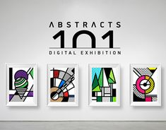 15 abstract designs inspired by the de stijl movement & pop art Pop Art, Plastic Design, Contemporary Design, Wall Art Prints, Behance, Inspiration, Abstract Designs, Gallery, Posters