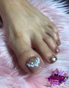 Cute Toe Nails, Cute Toes, Toe Nail Art, Pedicure Designs, Toe Nail Designs, Feet Nail Design, Acrylic Nail Tips, Cool Paper Crafts, Feet Nails