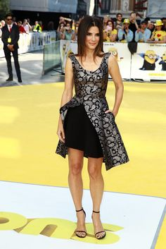 Sandra Bullock Looks Better Than Ever at Her First Red Carpet Appearance in Over a Year: Sandra Bullock proved that she can still dominate a red carpet on Thursday when she dazzled at the London premiere of Minions.