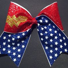 3in. Glitter Wonder Woman Superhero Cheer Bow