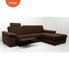 Canapé d angle relax electrique imitation cuir Mosky