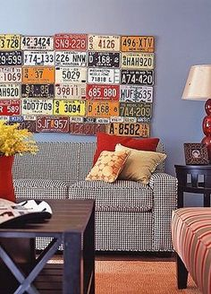 Always wondered what to do with all those old car tags.