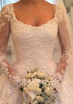 DressilyMe Bridal Dresses Online,Wedding Dresses Ball Gown, attractive tulle scooneckline a line wedding dress with beadings lace appliques Ivory Lace Wedding Dress, Sheath Wedding Gown, Wedding Dress Train, Elegant Wedding Dress, Best Wedding Dresses, Bridal Dresses, Bridesmaid Dresses, Wedding Styles, Elegant Gown