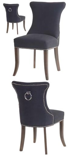 Black Ring Pull Studded Dining Chair £249