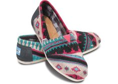 TOMS - New! Pink Tamin Women's Classics- I am not a huge fan of Toms.. but i would TOTALLY wear these!!