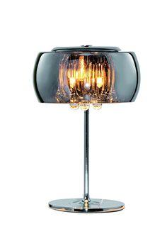 Vivienne Tischleuchte Vapore / Chrom mit Glasbehang / Höhe 36 cm, ø 22 cm / 3 x G9 / max. 28W / inklusiv Leuchtmittel / chrombedampftes Glas / Stilrichtung Modern 190640: Amazon.de: Beleuchtung