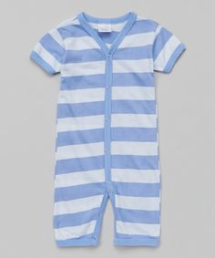 Another great find on #zulily! Luca Charles Pastel Blue Stripe Playsuit by Luca Charles #zulilyfinds