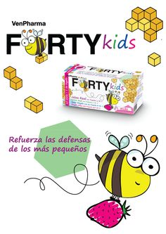 VenPharma Forty Kids lleva Jalea Real, Propóleo y vitamina C, así los más pequeños ¡siempre están vitales!