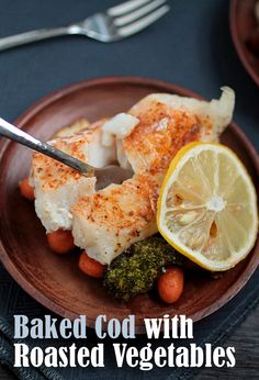 Oven baked cod recipe with roasted vegetables